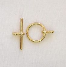 Gold Plated 12mm Toggle Clasp - 1